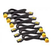 APC Power Cord Kit, 6ea ,Locking, 10A, 100-230V, C13 to C14 pravoúhlý 0,6m