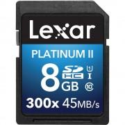 Cartão SD 8GB Lexar Platinum II Classe 10 45MB/s UHS-I 300x