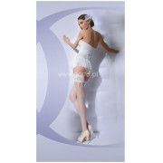 Gatta Wedding Collection - Bridal hold ups with decorative appliques Bella Donna