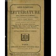 Precis Elementaire De Litterature (Style, Composition Et Poetique) A L'usage Des Etablissements D'instruction Publique