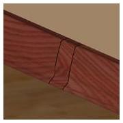 PBL505.41-S4 - Set 4 bucati piese legatura culoarea mahon pentru plinta PBC505