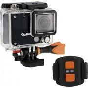 Rollei Actioncam 420 Cámara deportiva, resolución de vídeo de 4K, WiFi, incluye control remoto y carcasa resistente al agua (40 m), color negro