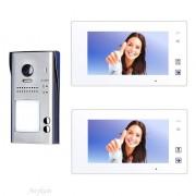 Anykam 607idfeS2 47MW Video Türsprechanlage Videosprechanlage 2 Familienhaus 2Draht
