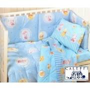 Completo lettino baby con sponde Winnie the Pooh Sogni lenzuolino cotone caleffi