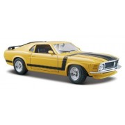 Maisto 1/24 Scale Diecast Custom Shop 1970 Ford Mustang Boss 302 in Color Yellow