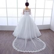 Xales de Casamento Boleros Sem Mangas Renda Tule Branco Casamento Festa Concha Renda Pérolas Strass Fecho