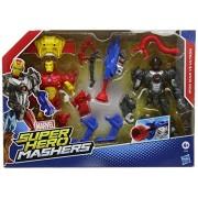 Marvel Avengers héroe mashers Iron Man vs. Ultron Figura conjunto