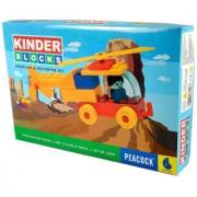 Peacock Kinder Blocks Aeroplane Helicopter Set