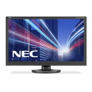 NEC AccuSync AS242W black 24' LCD monitor with LED backlight, TN panel, resolution 1920x1080, VGA, DVI-D
