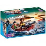 PLAYMOBIL-5137 - Barque des pirates avec requin-marteau-