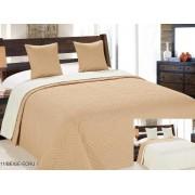 Ágytakaró szett: 1 db 220x240 cm ágytakaró + 2 db 40x40 cm díszpárna huzat - ezüstszürke - fekete leopárd mintás