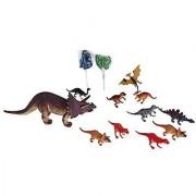 Kids Triceratop Dinosaur Toy Bundle- 4 Items: 10 Inch Triceratop Dinosaur-Makes A Sound 10 Pk Of 4 Inch Dinosaurs 2 Di