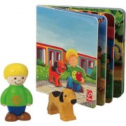 Hape My Pet Puppy Wooden Figure Set with Book