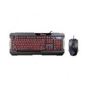 Kit Gamer de Teclado y Mouse Tt eSPORTS COMMANDER COMBO, Alámbrico, USB, LED Multicolor, Negro, Inglés