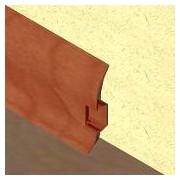 PBC605 - Plinta LINECO din PVC culoare cires inchis pentru parchet - 60 mm