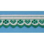 Zubovka šírka 1,6 cm zelená