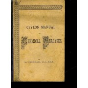Ceylon Manual Of Chemical Analyses