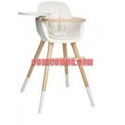 MICUNA -Стол за хранене OVO - бук/бяло