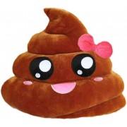 Soft Smiley Emoticon Dark Brown Cushion Pillow Stuffed Plush Toy Doll (Pretty Poo)