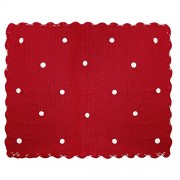 Happy Decor Kids Manta Happy Decor Kids Manta De Crochet Galleta Roja 100% Algodón 120 X 90 Cm Rojo 90 x 120 cm