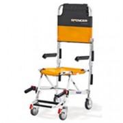 sedia portantina da evacuazione a 4 ruote spencer 425 silver - con bra