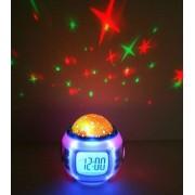 Zenélő csillagkivetítős asztali lámpa hangulatlámpa asztali óra ON-041