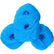 Glittering Wool Pack Aqua Blue 200 Gm (4Pc)