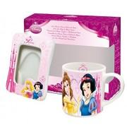 Disney 770324 - Principesse Set: Tazza e Portafoto di Ceramica in Confezione Regalo, 17x8x15 cm