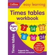 Times Tables Workbook Ages 7-11: New Edition by Collins Easy Learning