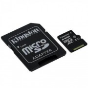Card memorie 64GB MicroSD HC Clasa 10 cu adaptor SD, Kingston SDC10G2/64GB