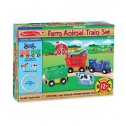 10644 Дървена влакова композиция животните от фермата Farm Animal Train Set