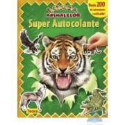 Super autocolante - Lumea animalelor - Verde