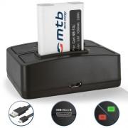 Batterie + Double Chargeur (USB) pour NB-13L NB-13LH / Canon PowerShot G5 X, G7 X, G9 X (3.6V - 1050mAh - avec Infochip) - Cable Micro-USB inclus
