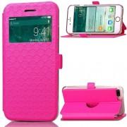 Divatos ablakos pink notesz telefontok Apple iPhone 7 PLUS telefonhoz