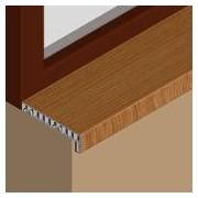 GIS203 - Glaf pentru interior din PVC infoliat 200 mm