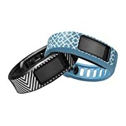 Garmin Vivofit Jonathan Adler activity Wristband-Black/White/Blue/White, Large