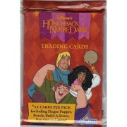 DisneyS Hunchback Of Notre Dame Trading Card Pack - 11 Cards Per Pack - Includes Finger Puppet Puzzle Build-A-Tower P