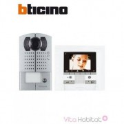 BTICINO KIT Interphone vidéo BTICINO MEMORY DISPLAY - Saillie - 1 appel - BTICINO 369411