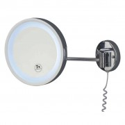 XXXL Shop KOSMETIKSPIEGEL rund, Silber, Glas, Metall, 25x25x10 cm