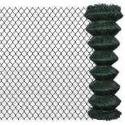 vidaXL Оградна мрежа 1,25м х 25м, зелена