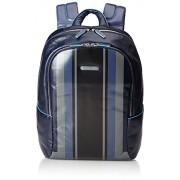 Piquadro Blue Square Zaino, Pelle, Blu, 39 cm