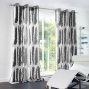 "Vorhang ""Feather"", 1 Vorhang, 132 x 260 cm - Hellgrau"