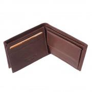 Florence Leather Market Mini portafoglio in pelle morbida di vitello da uomo (PF09)