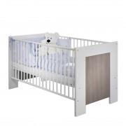 Babybed Janne - mat wit/pijnboomhoutkleurig - zonder zijkanten, California