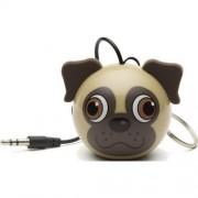 Boxa portabila Trendz Mini Buddy Pug, Bej/Maron