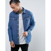 G-Star Узкая джинсовая рубашка с состаренным эффектом G-Star 3301 - Синий
