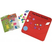 Kids Solar System Learning Gift Set Bundle Three Items: Foam Solar System Map Foam Space Ship Toy Craft Kit One Package Of Glow In The Dark Stars Ceiling