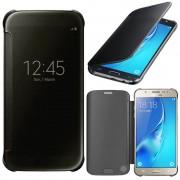 Samsung Galaxy J5 (2016) J510fn/ J510f/ J510g/ J510y/ J510m/ J5 Duos (2016): Etui Housse Pochette Etui À Rabat, View Cover, Coque Silicone Gel Rigide Livre Rabat - Noir