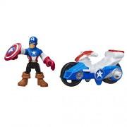 Playskool Heroes Marvel Super Hero Adventures Captain America Figure with Shield Racer Vehicle by Playskool
