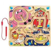 Hape - Fun Farm Magnetic Wooden Maze Puzzle